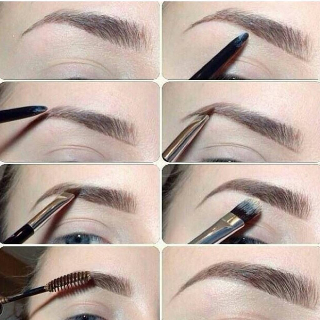 Как сделать брови красивыми в домашних фото 61
